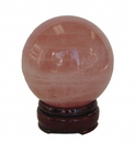 Feng Shui Import Rose Quartz Sphere - 4533