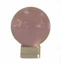 Feng Shui Import Pink Crystal Ball with Crystal Stand  - 4536