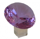 Feng Shui Import Purple Diamond Crystal with Stem - 4538