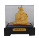 Feng Shui Import Velvet Shakin Rat Figurine with Case and Gift Box - 4573