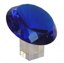 Feng Shui Import Blue Diamond Crystal with Stem - 4582