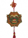 Feng Shui Import Charm of Lion Head with Sword and Bagua - 4590