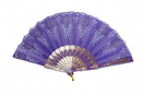 Feng Shui Import Purple Hand Fan - 4620