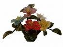 Feng Shui Import Colorful Jade Peony Plant - 4630