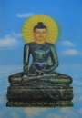 Feng Shui Import 3D Medicine Buddha Picture - 4631