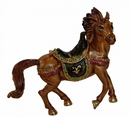 Feng Shui Import Brown Bejeweled Victory Horse - 4646