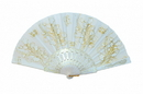 Feng Shui Import White Hand Fan - 4656