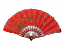 Feng Shui Import Red Hand Fan - 4666