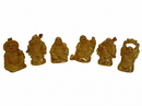 Feng Shui Import Six Little Shinning Gold Buddha Statues - 4688