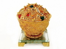 Feng Shui Import 4732 Golden Money Bowl with Clear Stand
