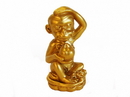 Feng Shui Import 4741 Sitting Golden Monkey with Peach