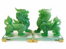 Feng Shui Import 4752 Pair of Green Pi Yao Statues
