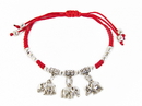 Feng Shui Import 4753 Red Bracelet with 3 Elephant Charms
