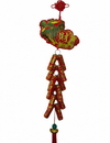 Feng Shui Import 4769 New Year Charm - Lucky Fireworks with Bai Choi charm