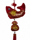Feng Shui Import 4775 New Year Charm - Fish with Money Bag