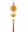 Feng Shui Import New Year Charm - Coins, Golden Fish, and Money Bag