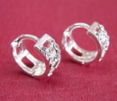 Feng Shui Import Sterling Silver Stub Earrings - 554