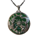 Feng Shui Import Jade Dragon Phoenix Pendants - 946