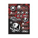 Metal Mulisha Sticker Sheet, features a 13