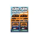 KTM Racing Sticker Sheet