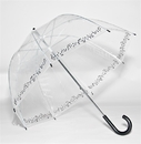 Elite Rain Clear Printed Bubble Umbrella