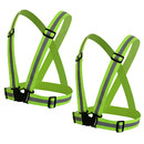 TOPTIE 2Pack Reflective Running Vest, High Visibility Adjustable Safety Vest for Running, Jogging, Walking, Cycling