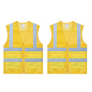 TOPTIE 2 PCS High Visibility Zipper Front Mesh Safety Vest With Pockets, Volunteer Vest
