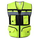 TOPTIE Heavy Duty Industrial Safety Vest, Breathable High Visibility Vest with Multi Frontal Pockets