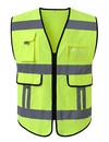 TOPTIE Surveyors Safety Vest, Multi Pockets Bright Construction Workwear for Men and Women