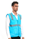 GOGO Safety Vest High Visibility Reflective Tape with Multi Pockets and Pen Dividers