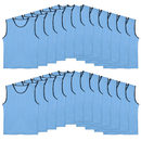 TOPTIE Pack of 24 Nylon Mesh Polyester Scrimmage Team Training Vests, Practice Vest for Basketball Soccer