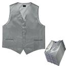 TOPTIE 12 PCS Men's Satin Shimmer Tuxedo Vest, Wedding Vest, Formal Business Suit Vest Wholesale