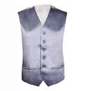 TOPTIE 6 PCS Solid Color Satin shimmer Tuxedo Vest With 6 Buttons for Formal Business Suit Wholesale