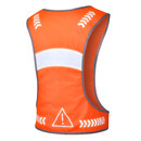 TOPTIE Safety Reflective Vest Running Gear with Adjustable Waist & Pocket for Young Running Cycling