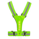 TOPTIE LED Reflective Vest, Reflective Running Vest, High Visibility Vest with Adjustable Elastic Belt Straps for Night Walking, Running, Biking
