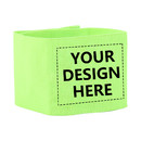 TOPTIE 50 PCS Personalized Soccer Football Captain Armband, Custom Reflective Wristband for Runners