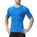 TopTie Men's Short Sleeve Running Fitness Workout Compression Base Layer Shirt