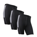 TopTie Men's 3 Pack Compression Performance Shorts