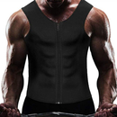 TOPTIE Men Compression Shirts Tummy Shaper Sauna Suit Waist Trainer Corset Weightloss