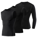 TOPTIE Men's Dry Fit Athletic Compression Shirt Pack, Sleeveless & Short Sleeve & Long Sleeve