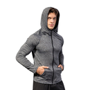 TOPTIE Men's Hoodies Zipper Slim Fit Long Sleeve Workout Hoody Jacket