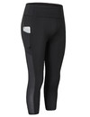 TOPTIE Yoga Pants with Pockets, Tummy Control Workout Running Capri Leggings for Women