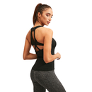 TOPTIE Women Yoga Tank Top Workout Compression Tops Open Back Activewear