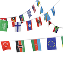 Aspire 8.2X5.5 inches String Of International Flags For Party Events Olympic Decorations, Festivals Flag Pennants - Up to 200 Counties