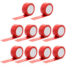 Muka 10 Pack Multi-Color Electrical Tape Flame Retardant Waterproof and Strong Rubber Based Adhesive, 3/4 inch x 66 feet