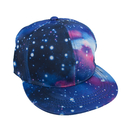 Wholesale TopTie Unisex Snapback Hat / Flat Bill Baseball Cap, With Space Galaxy Printed
