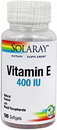 Solaray 4163 Vitamin E, D-Alpha Tocopherol