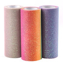 Muka 3 Packs Rainbow Glitter Tulle Spool 10 Yards Per Roll 6 Inch Unicorn Colors Fabric Ribbon for Wedding,Wrapping, Crafting