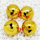 Muka Jingle Bells 50 Pcs Jewelry Making Bell Charms 1 Inch Bell Pendant for Holiday Decoration