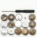 10 Sets Replacement Buttons 0.67 Inch Jeans Button, Sewing-Free Buttons, for Jeans, Denim Jacket